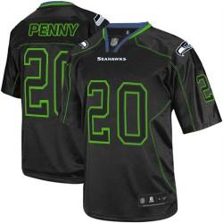 Elite Men's Rashaad Penny Lights Out Black Jersey - #20 Football Seattle Seahawks