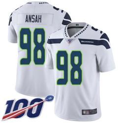 Limited Men's Ezekiel Ansah White Road Jersey - #98 Football Seattle Seahawks 100th Season Vapor Untouchable