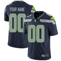Limited Men's Navy Blue Home Jersey - Football Customized Seattle Seahawks Vapor Untouchable