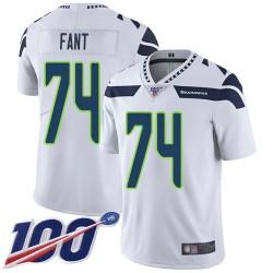 Limited Men's George Fant White Road Jersey - #74 Football Seattle Seahawks 100th Season Vapor Untouchable