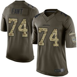 Elite Youth George Fant Green Jersey - #74 Football Seattle Seahawks Salute to Service