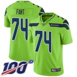 Limited Men's George Fant Green Jersey - #74 Football Seattle Seahawks 100th Season Rush Vapor Untouchable