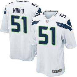 Game Men's Barkevious Mingo White Road Jersey - #51 Football Seattle Seahawks