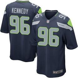 Game Men's Cortez Kennedy Navy Blue Home Jersey - #96 Football Seattle Seahawks