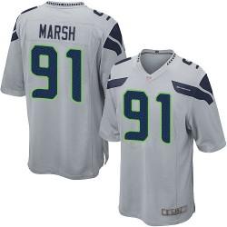 Game Men's Cassius Marsh Grey Alternate Jersey - #91 Football Seattle Seahawks