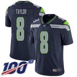 Limited Men's Jamar Taylor Navy Blue Home Jersey - #8 Football Seattle Seahawks 100th Season Vapor Untouchable