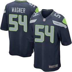 Game Men's Bobby Wagner Navy Blue Home Jersey - #54 Football Seattle Seahawks