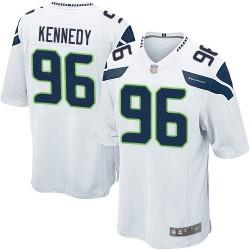 Game Men's Cortez Kennedy White Road Jersey - #96 Football Seattle Seahawks