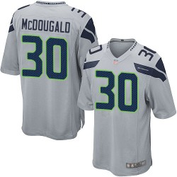 Game Men's Bradley McDougald Grey Alternate Jersey - #30 Football Seattle Seahawks