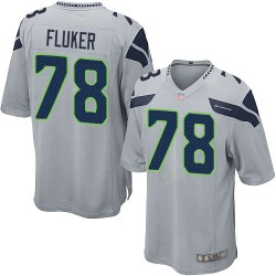 Game Men's D.J. Fluker Grey Alternate Jersey - #78 Football Seattle Seahawks