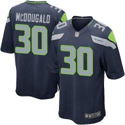 Game Men's Bradley McDougald Navy Blue Home Jersey - #30 Football Seattle Seahawks