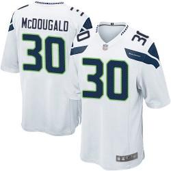 Game Men's Bradley McDougald White Road Jersey - #30 Football Seattle Seahawks