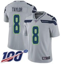 Limited Men's Jamar Taylor Grey Alternate Jersey - #8 Football Seattle Seahawks 100th Season Vapor Untouchable