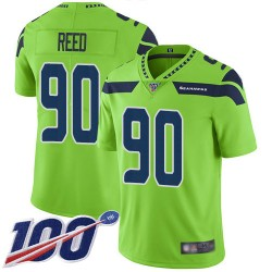 Limited Men's Jarran Reed Green Jersey - #90 Football Seattle Seahawks 100th Season Rush Vapor Untouchable