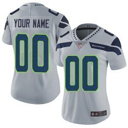 Limited Women's Grey Alternate Jersey - Football Customized Seattle Seahawks Vapor Untouchable
