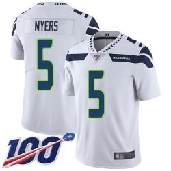 Limited Men's Jason Myers White Road Jersey - #5 Football Seattle Seahawks 100th Season Vapor Untouchable