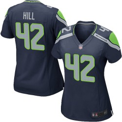 Game Women's Delano Hill Navy Blue Home Jersey - #42 Football Seattle Seahawks