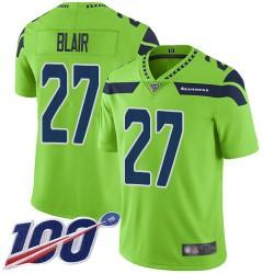 Limited Men's Marquise Blair Green Jersey - #27 Football Seattle Seahawks 100th Season Rush Vapor Untouchable