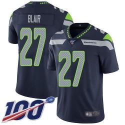 Limited Men's Marquise Blair Navy Blue Home Jersey - #27 Football Seattle Seahawks 100th Season Vapor Untouchable
