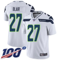 Limited Men's Marquise Blair White Road Jersey - #27 Football Seattle Seahawks 100th Season Vapor Untouchable