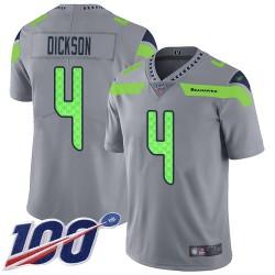 Limited Men's Michael Dickson Silver Jersey - #4 Football Seattle Seahawks 100th Season Inverted Legend