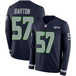 Limited Men's Cody Barton Navy Blue Jersey - #57 Football Seattle Seahawks Therma Long Sleeve