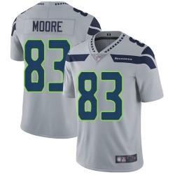 Limited Men's David Moore Grey Alternate Jersey - #83 Football Seattle Seahawks Vapor Untouchable