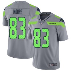 Limited Men's David Moore Silver Jersey - #83 Football Seattle Seahawks Inverted Legend