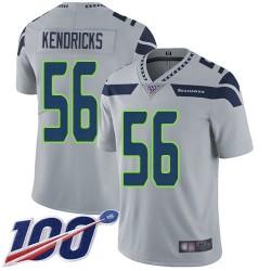 Limited Men's Mychal Kendricks Grey Alternate Jersey - #56 Football Seattle Seahawks 100th Season Vapor Untouchable
