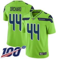 Limited Men's Nate Orchard Green Jersey - #44 Football Seattle Seahawks 100th Season Rush Vapor Untouchable