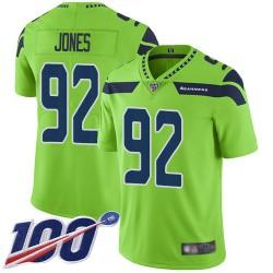 Limited Men's Nazair Jones Green Jersey - #92 Football Seattle Seahawks 100th Season Rush Vapor Untouchable