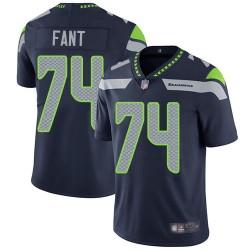 Limited Men's George Fant Navy Blue Home Jersey - #74 Football Seattle Seahawks Vapor Untouchable