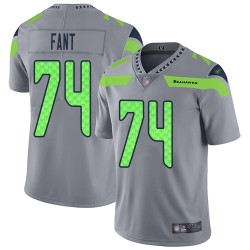 Limited Men's George Fant Silver Jersey - #74 Football Seattle Seahawks Inverted Legend