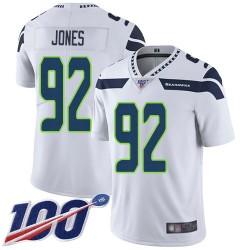 Limited Men's Nazair Jones White Road Jersey - #92 Football Seattle Seahawks 100th Season Vapor Untouchable