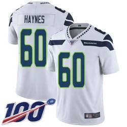 Limited Men's Phil Haynes White Road Jersey - #60 Football Seattle Seahawks 100th Season Vapor Untouchable