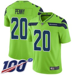 Limited Men's Rashaad Penny Green Jersey - #20 Football Seattle Seahawks 100th Season Rush Vapor Untouchable