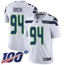Limited Men's Rasheem Green White Road Jersey - #94 Football Seattle Seahawks 100th Season Vapor Untouchable