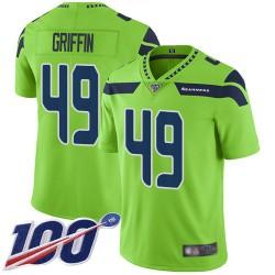 Limited Men's Shaquem Griffin Green Jersey - #49 Football Seattle Seahawks 100th Season Rush Vapor Untouchable