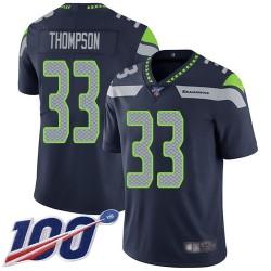 Limited Men's Tedric Thompson Navy Blue Home Jersey - #33 Football Seattle Seahawks 100th Season Vapor Untouchable