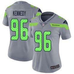 Limited Women's Cortez Kennedy Silver Jersey - #96 Football Seattle Seahawks Inverted Legend