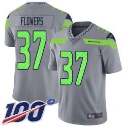 Limited Men's Tre Flowers Silver Jersey - #37 Football Seattle Seahawks 100th Season Inverted Legend