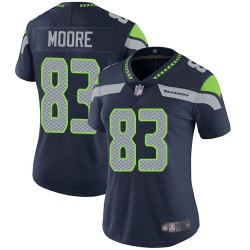 Limited Women's David Moore Navy Blue Home Jersey - #83 Football Seattle Seahawks Vapor Untouchable