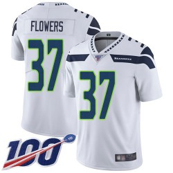 Limited Men's Tre Flowers White Road Jersey - #37 Football Seattle Seahawks 100th Season Vapor Untouchable