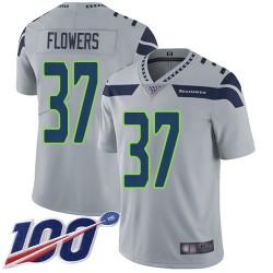 Limited Men's Tre Flowers Grey Alternate Jersey - #37 Football Seattle Seahawks 100th Season Vapor Untouchable