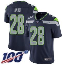 Limited Men's Ugo Amadi Navy Blue Home Jersey - #28 Football Seattle Seahawks 100th Season Vapor Untouchable