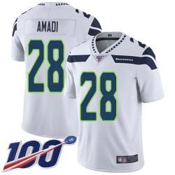 Limited Men's Ugo Amadi White Road Jersey - #28 Football Seattle Seahawks 100th Season Vapor Untouchable