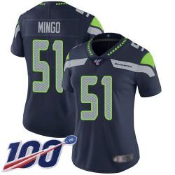Limited Women's Barkevious Mingo Navy Blue Home Jersey - #51 Football Seattle Seahawks 100th Season Vapor Untouchable