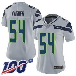 Limited Women's Bobby Wagner Grey Alternate Jersey - #54 Football Seattle Seahawks 100th Season Vapor Untouchable