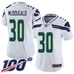 Limited Women's Bradley McDougald White Road Jersey - #30 Football Seattle Seahawks 100th Season Vapor Untouchable