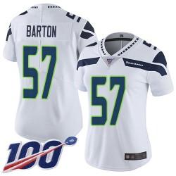 Limited Women's Cody Barton White Road Jersey - #57 Football Seattle Seahawks 100th Season Vapor Untouchable